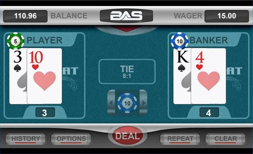 Betanysports Rebate Baccarat Mini Game